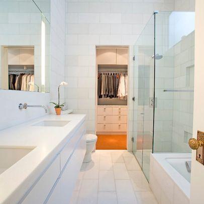 bathroom ideas long narrow space