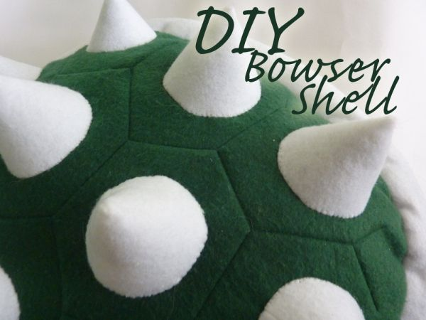 DIY Bowser Shell for #Costume #Halloween (could also adapt into turtle shell or pillow)