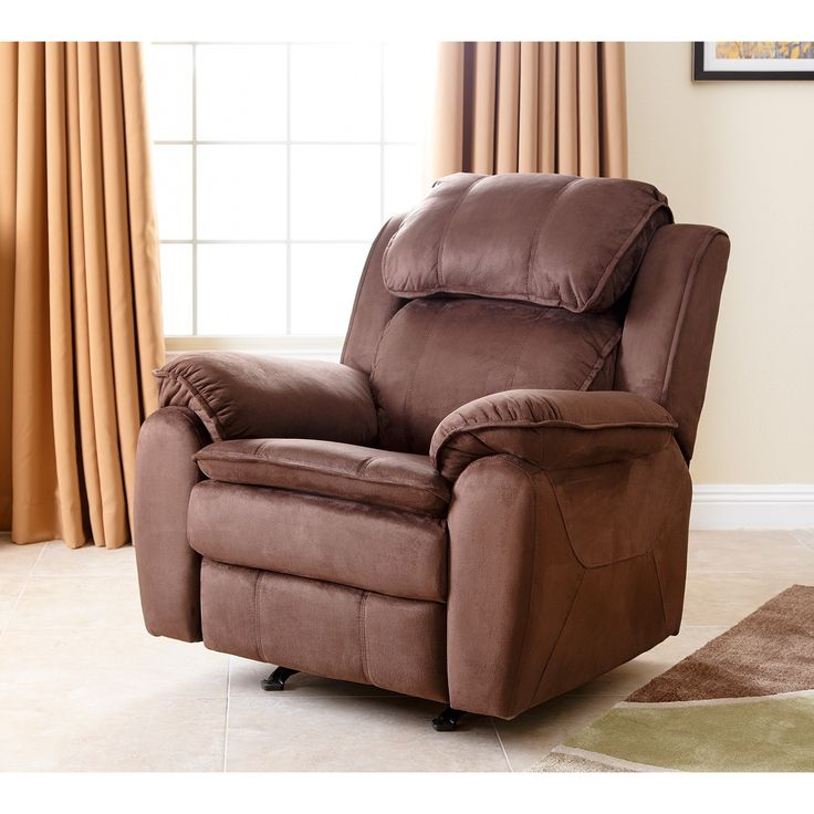 The recliner features a dark brown upholstery that covers a reclining mechanism that you can activate just by leaning ... & 495 best Overstock Inspiration 2015 images on Pinterest | Sofa end ... islam-shia.org