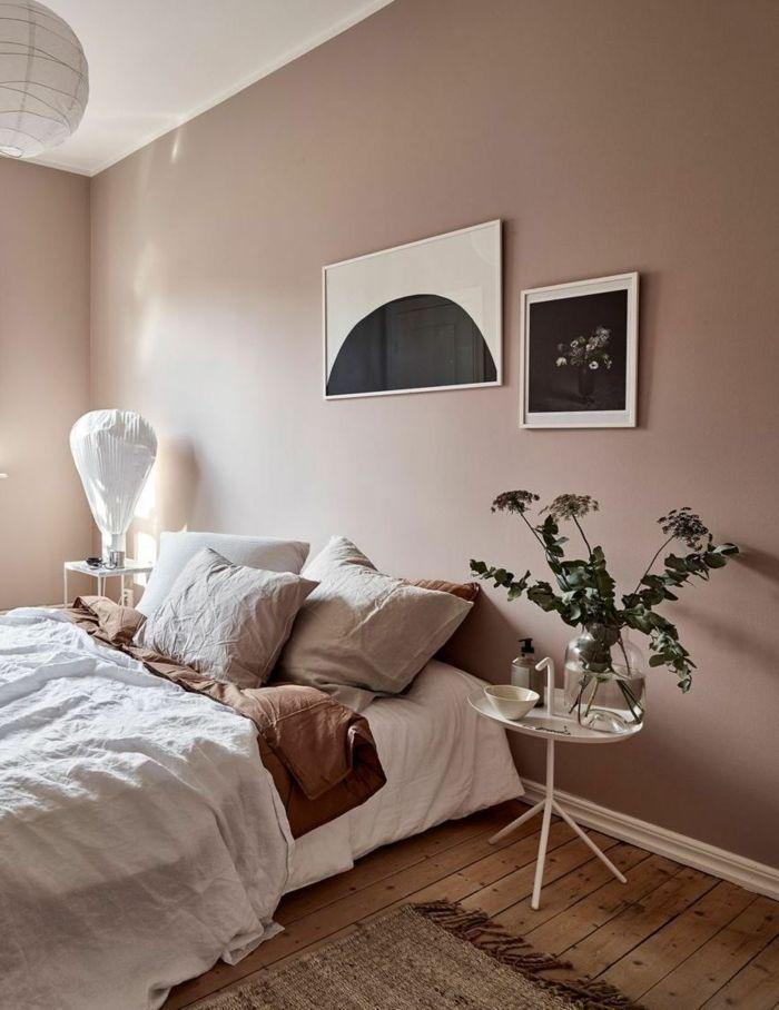Wandfarbe Schlafzimmer Modern