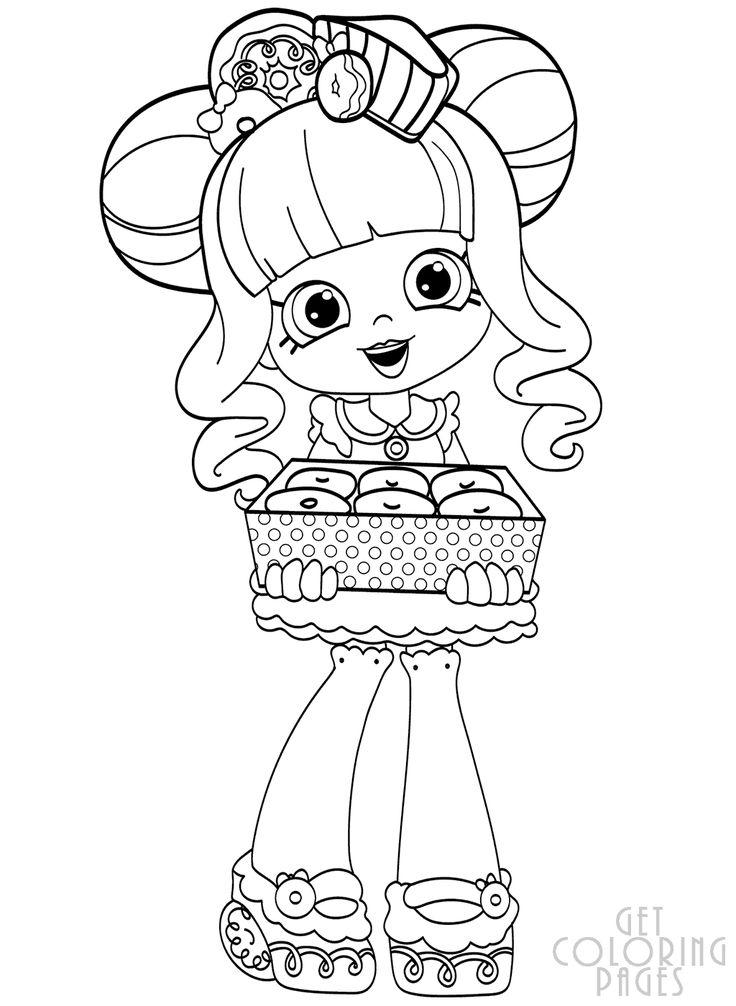 Donatina SHOPKINS Shopkin coloring