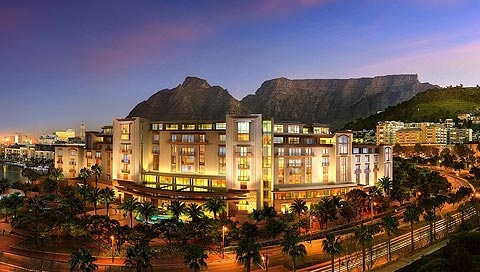 The One & Only Hotel in Cape Town.   http://www.hotel.co.za/waterfront-accommodation-oneandonly.html