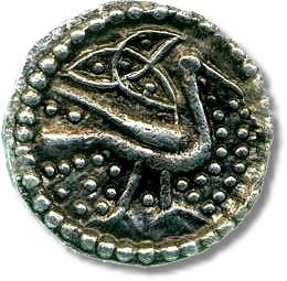 Anglo-Saxon silver penny, 8th century, from the De Wit Collection