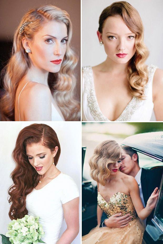 Glam Hollywood Waves | Vintage Hair Inspiration | www.onefabday.com