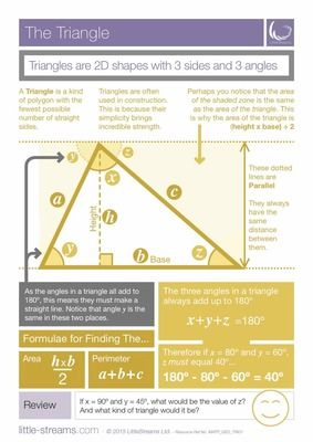 The Triangle | Free poster on the main principles of triangles from LittleStreams on TeachersNotebook.com -  (2 pages)  - This is a completely FREE poster on Triangles and their introductory properties. It is constructed from scratch to be simple and clear. Download it now, print it and use it where you like.