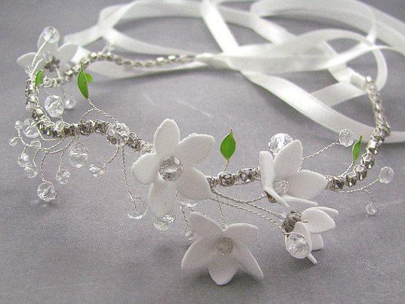 Wedding Hair Pieces Bridal Flower Crown Primrose Flower