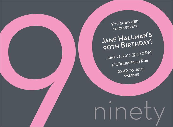 Birthday Invitation » Free 90th Birthday Invitation Templates ...