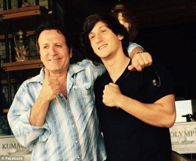 Strong genes: Dante is the son of the  late Frank Stallone Sr. who died in 2011 and his fourth wife Kathy. He's pictured with lookalike half-brother Frank Jr., 66, who is Sly's full brother