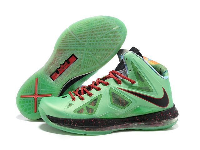 Nike Zoom Lebron 10(X) Shoes Green/Black