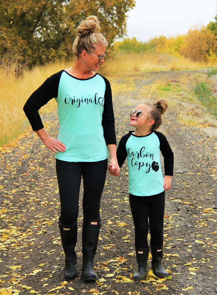 "Mom & Me - ""Original"" and ""Carbon Copy"" Mint Shirts 