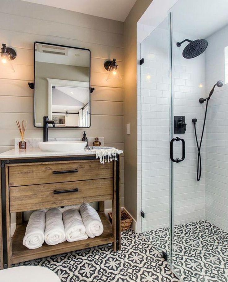 53 Vintage Farmhouse Bathroom Ideas 2017 Amenager Petite Salle