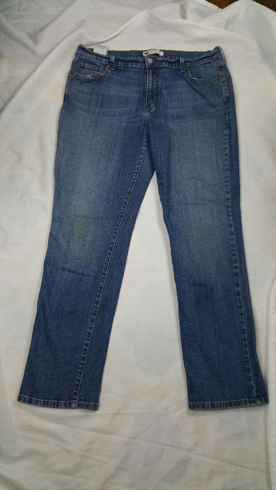 fee6d38ffe9 Womens Levis Sz 16 M 505 Straight Leg Blue Denim Jeans Stretch B1  Levis   StraightLeg