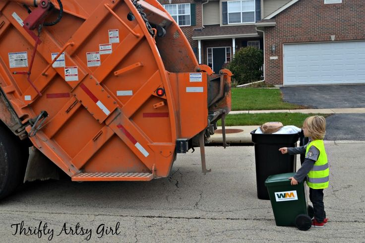 take out the trash diy toddler sized wheeled trash can