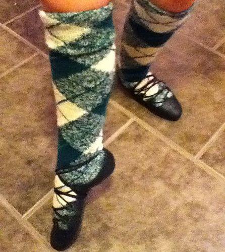 Knitting Pattern For Highland Dance Socks : Ravelry: rockerMom403s Wool Express Highland Dance Socks ...