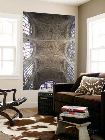 オールポスターズの スティーブ・ビドラー「England, Cambridgeshire, Cambridge, King's College Chapel, Ceiling」ウォールミューラル