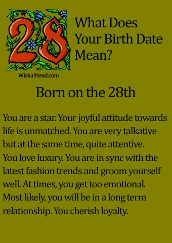 What Does Your Birth Date Mean? - Born on the 28th