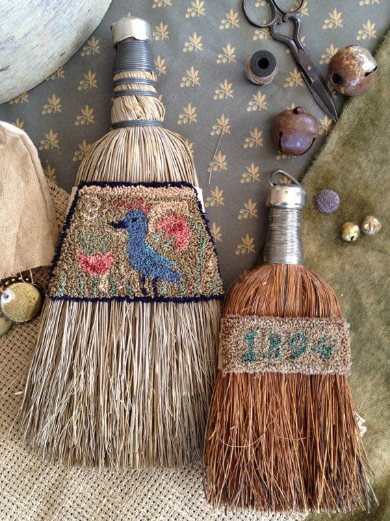 Primitive Folky Bird 1894 Punch Needle by 1894CottonwoodHouse, $9.00