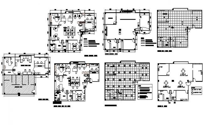 Layout Plan Of The Office Building With Detail Dimension In Dwg File Office Building Office Layout Plan Office Building Plans