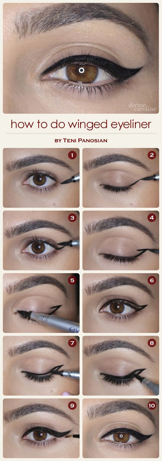 MakeUp_Variante1 Schwarzer Lidstrich, evtl dazu rote/pinke Lippen