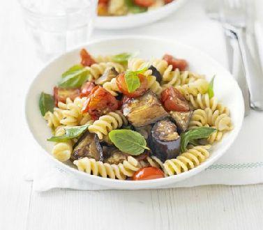 Roasted eggplant, tomato & basil pasta: http://www.ibssanoplus.com/low ...