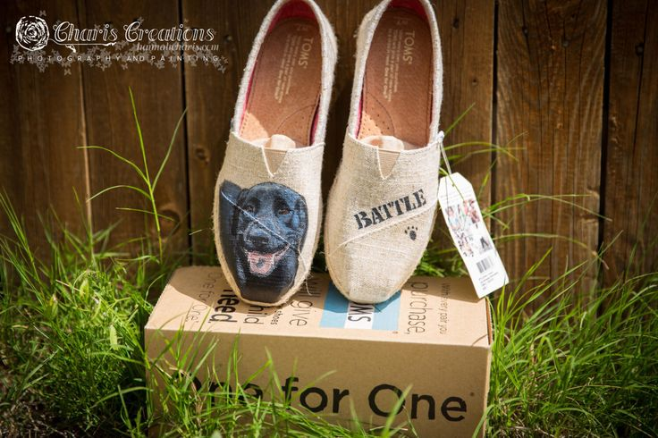SAMPLE - Labrador Painted Toms by HannahsPaintedToms on Etsy https://www.etsy.com/listing/267987677/sample-labrador-painted-toms