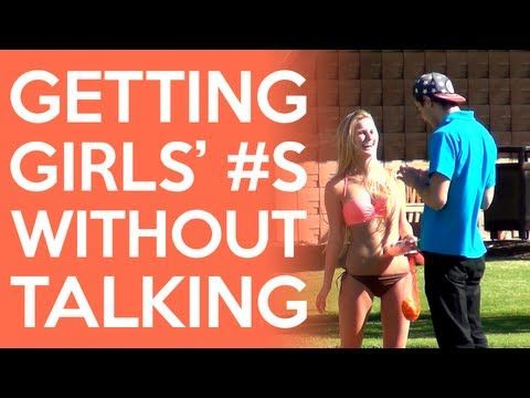 VIDEO: Getting Girls' Phone Numbers Without Talking