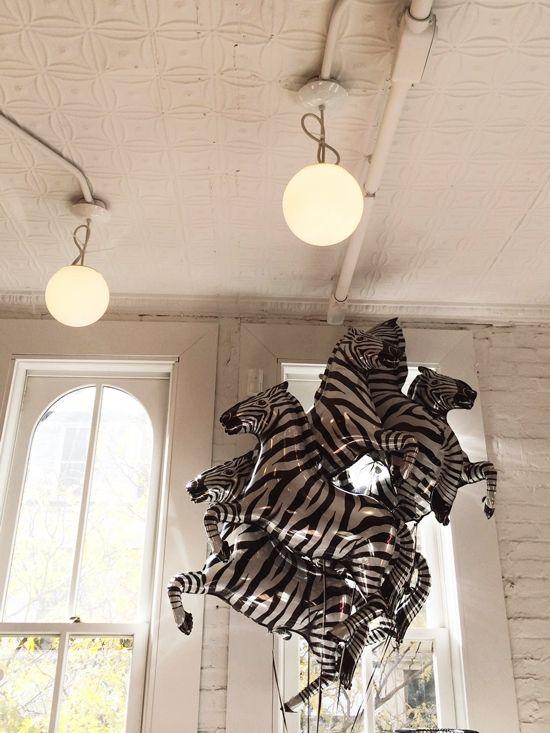 Zebra balloons at The Land of Nod -★-