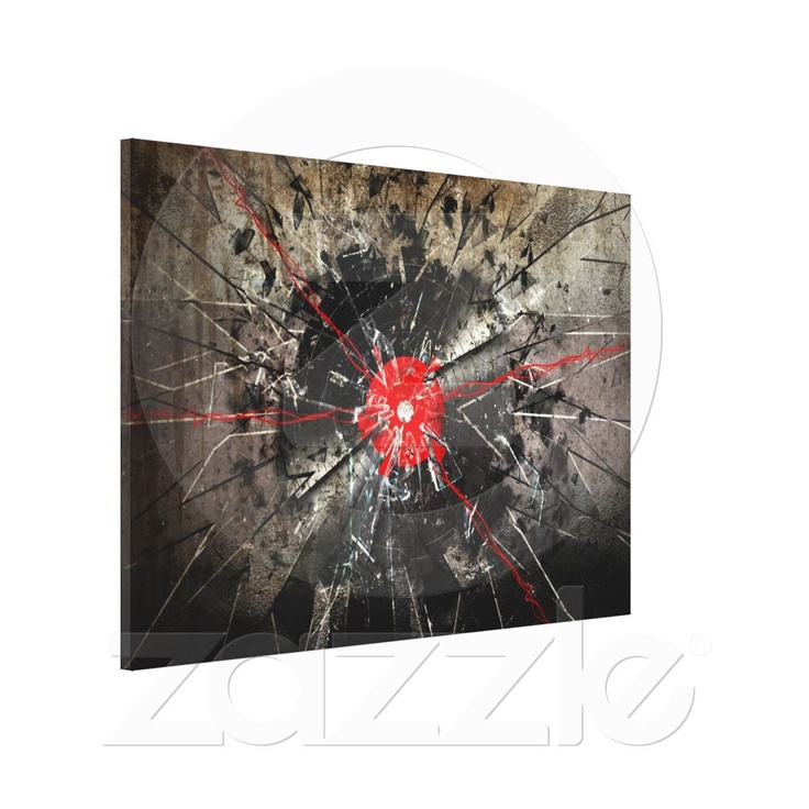 broken vinyl stretched canvas prints from Zazzle.com  All products with this design you can find here: http://www.zazzle.com/ann_geldesign/gifts?gp=105915648627884985