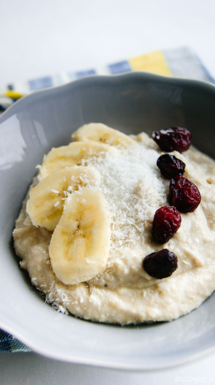 Bananowo-kokosowy budyń jaglany / coconut banana millet pudding recipe / breakfast fit healthy