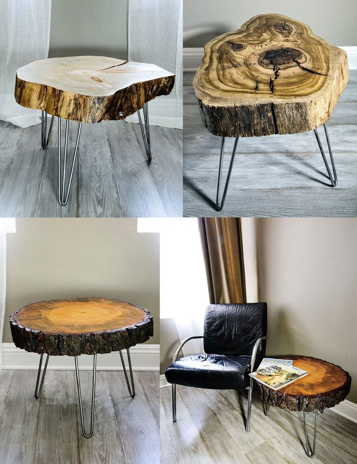 Growing up my neighbors had a coffee table made from a single piece of sliced wood and I always wondered why they weren't more popular. CraftsManhattan is bringing this style back by creating handmade tables for sale on etsy. { furniture } Via www.etsy.com/...