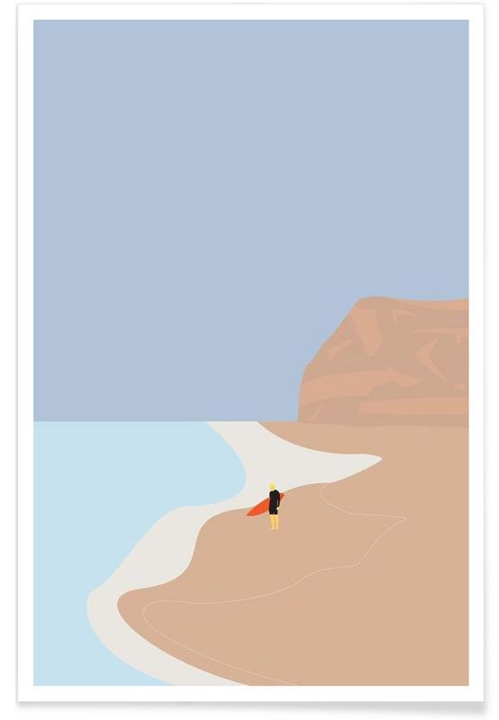 Fornøjelse Surf No. 01 en Affiche premium par Swen Swensøn   JUNIQE