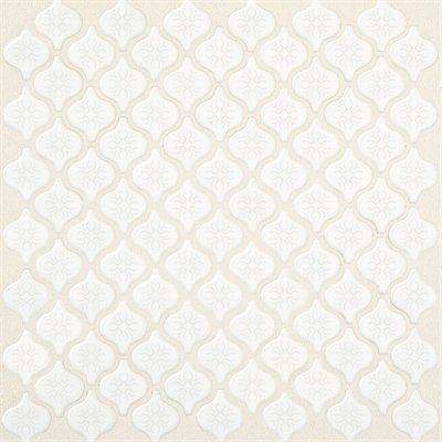 American Olean 12-in x 12-in Arabesque White Glazed Porcelain Wall Tile