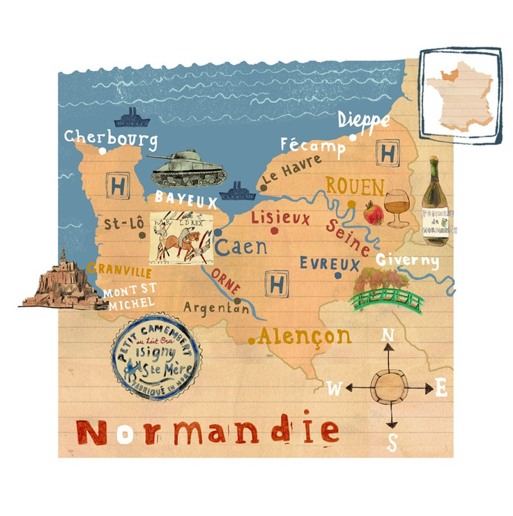Kate Evans - Normandie - http://www.folioart.co.uk/illustration/folio/artwork/normandie/