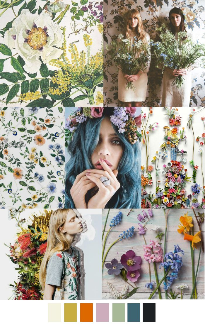 S/S 2017 patterna & colors trends: WILD FLOWER