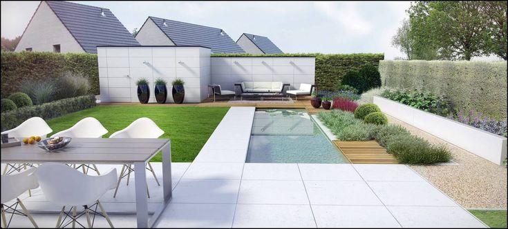 Gezellige moderne tuin google zoeken idee n voor het huis pinterest gardens - Landscaping modern huis ...