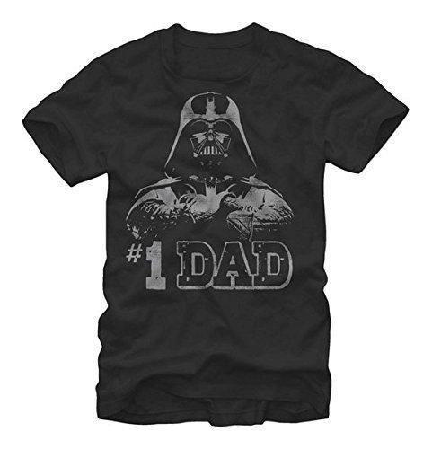 Star Wars - Numero Uno Dad Father's Day T-Shirt (X-Large)Black
