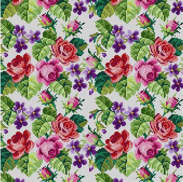 Roses & Violets White