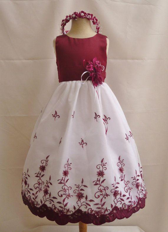 Dress For Abby Flower Girl Dress Burgundy 072 Wedding -8135