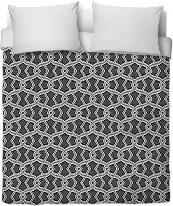 Diamond Shapes on Charcoal Duvet Cover by Terrella