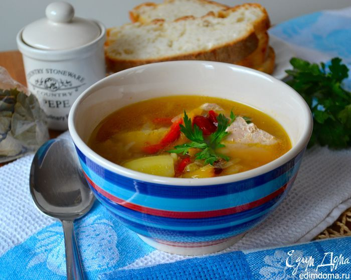 "Легкий супчик ""Тунец и картошка"". #edimdoma #recipe #cookery #dinner #soup"