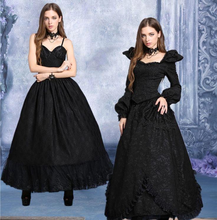 Long voluminous petticoat pinup princess gothic vampire victorian