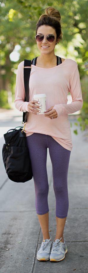 Blush Sporty Long Sleeve Tshirt by Hello Fashion
