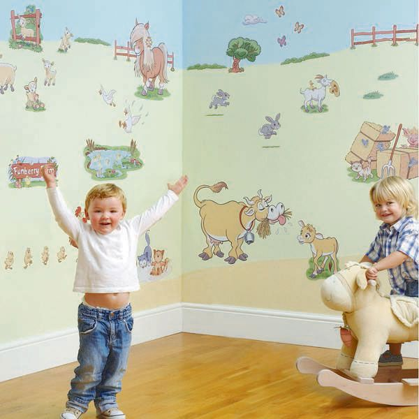 Had The Fun To See Wall Stickers Funberry Farm In The Old Nursery,  Hopefully Will Part 21