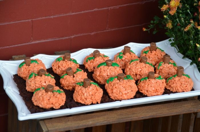 Pumpkin Rice Krispies Treats.1St Bday, Halloween Pumpkin, Rice Krispies Treats, 1St Birthday, Pumpkin Rice, Gluten Free, Autumn Harvest, Pumpkin Patches, Rice Krispie Treats