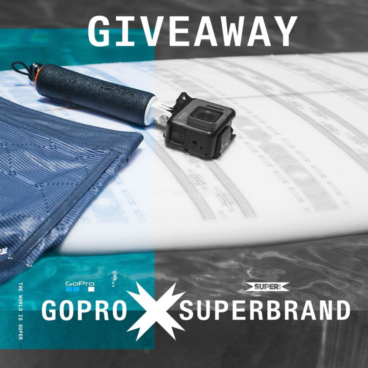 Document your shredding with this killer prize package from Superbrand and GoPro! One lucky winner will walk away with a Superbrand surfboard, boardshorts, tees, and hat along with a new GoPro Hero 5, floating hand grip, surfboard mounts, floaty, and Seeker backpack to store all the goodies!