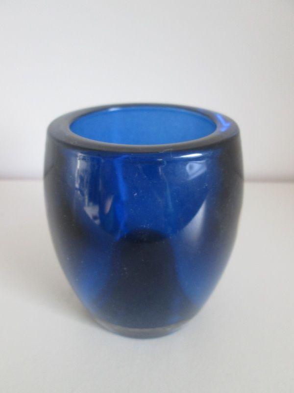 Bolsius glazen sfeerlicht marine blauw. www.hkhomecollection.nl