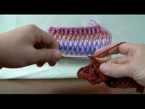 How To Crochet Ripple Stitch - LH Left Handed Crochet Patterns and ...