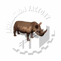 Rhino Wiggling Ears Animated Clipart