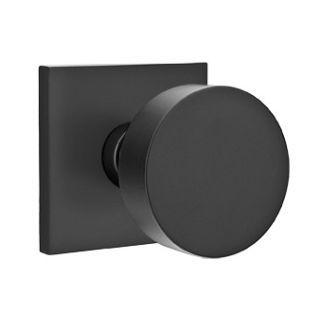 Emtek 510ROU - Clean round matte black door knobs. No frilliness.
