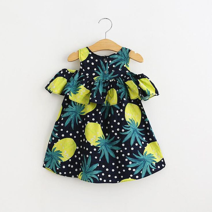 Find More Dresses Information about 2016 Kids Girls Print Fruit Pineapples Off Shoulder Dress Dot Lovely Children Summer Dress Wholesale 6pcs/lot,High Quality fruit selling,China fruit band Suppliers, Cheap fruit ups from Everweekend Kids Clothing Co.,Ltd on Aliexpress.com